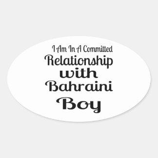 Verhältnis Jungen zum von Bahrein Ovaler Aufkleber
