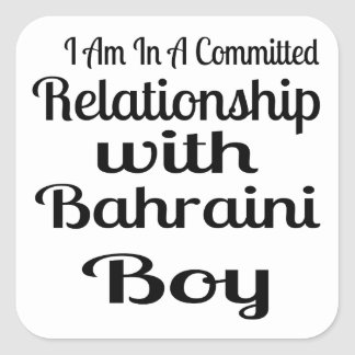 Verhältnis Jungen zum von Bahrein Quadratischer Aufkleber