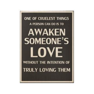 Verhältnis-Plakat-Liebe ohne Absicht Holzposter