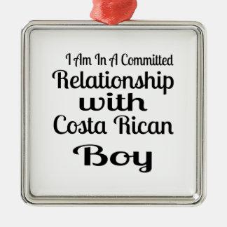 Verhältnis zu Costa Rican Jungen Silbernes Ornament