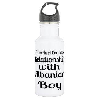 Verhältnis zum albanischen Jungen Trinkflasche