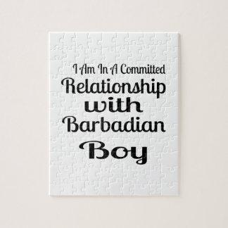 Verhältnis zum barbadischen Jungen Puzzle