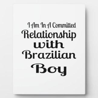 Verhältnis zum brasilianischen Jungen Fotoplatte