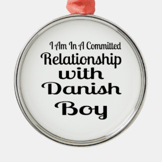 Verhältnis zum dänischen Jungen Silbernes Ornament