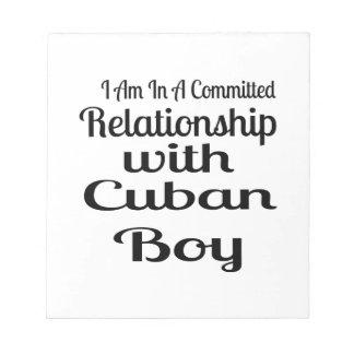 Verhältnis zum kubanischen Jungen Notizblock