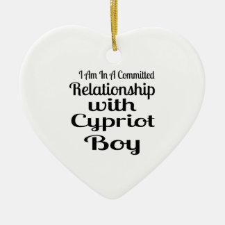 Verhältnis zum zypriotischen Jungen Keramik Ornament