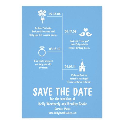 VerhältnisTimeline Save the Date Individuelle Einladungskarte