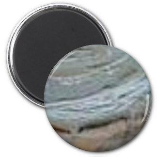 verhärten Sie Felsenkräuselung Runder Magnet 5,1 Cm