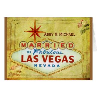 Verheiratet in fabelhaftem Las Vegas - Vintag Karte