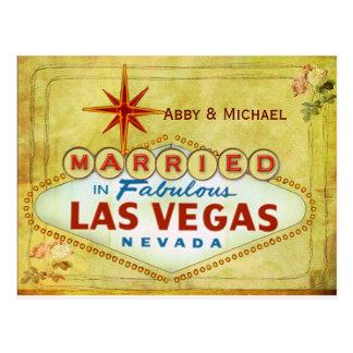 Verheiratet in fabelhaftem Las Vegas - Vintag Postkarte
