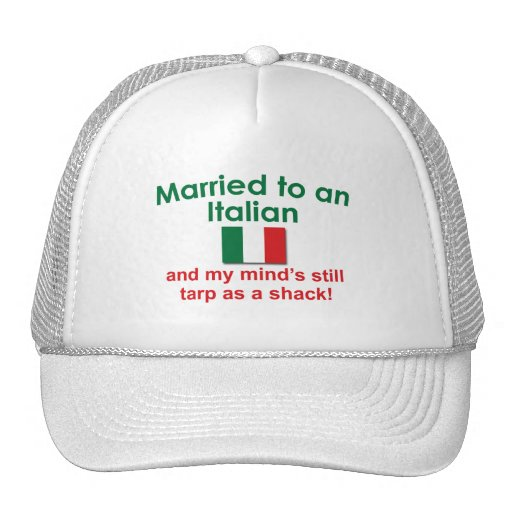 Verheiratet zu einem Italiener Retrokultkappe
