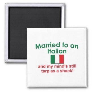 Verheiratet zu einem Italiener Quadratischer Magnet