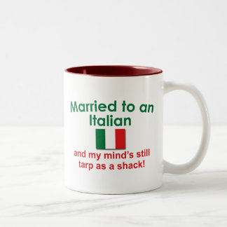Verheiratet zu einem Italiener Zweifarbige Tasse