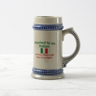 Verheiratet zu einem Italiener Bierkrug