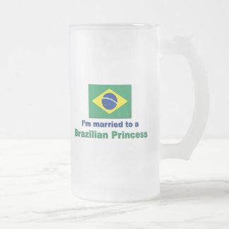 Verheiratet zu einer brasilianischen Prinzessin Mattglas Bierglas