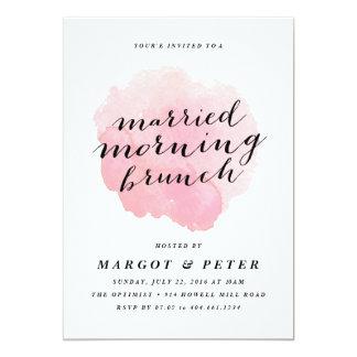 Verheiratete Einladung Brunch Morgen des