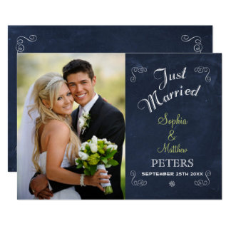 Verheiratete Karte der Tafel-  des Foto-  gerade 12,7 X 17,8 Cm Einladungskarte