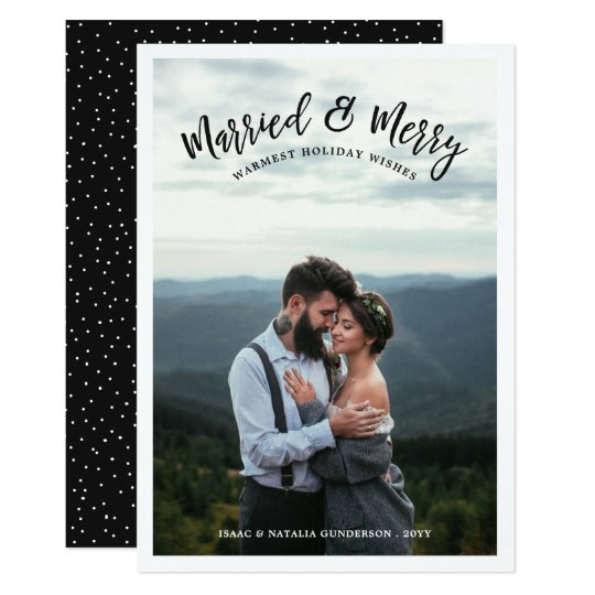 Verheiratete u. fröhliche Dunkelheit der 12,7 X 17,8 Cm Einladungskarte