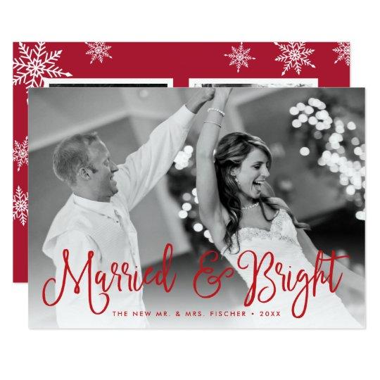 Verheiratete u. helle Feiertags-Foto-Karte + 12,7 X 17,8 Cm Einladungskarte