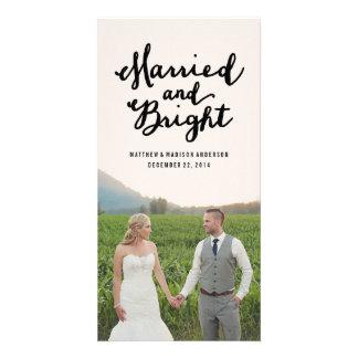 Verheiratete u helle Feiertags-Foto-Karten Photogrußkarten