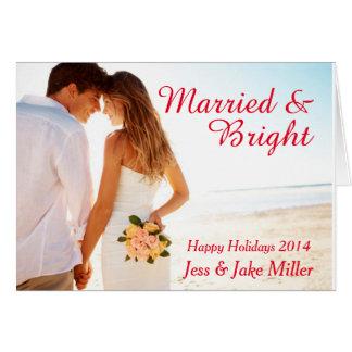 Verheiratete u. helle Feiertags-Karte Karte