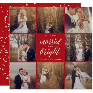 Verheiratete und helle quadratische 13,3 cm einladungskarte