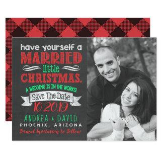 Verheiratetes kleines WeihnachtsFoto Save the Date Karte