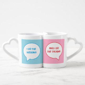 Verheiratetes Paar-Tassen-Set Liebestasse