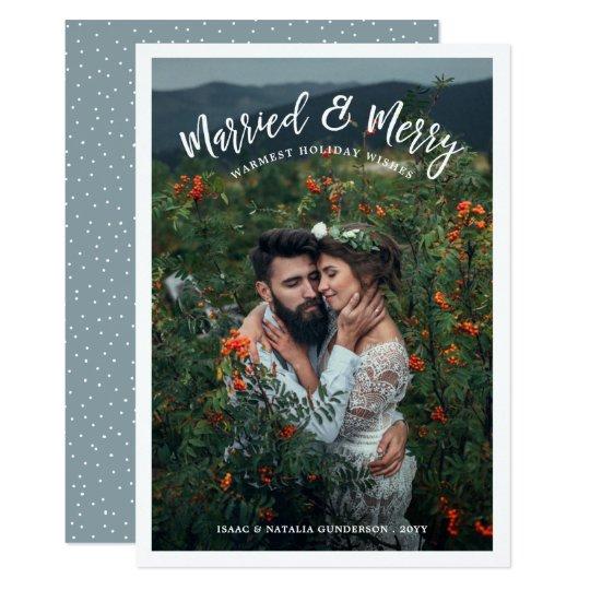 Verheiratetes u. fröhliches Licht der 12,7 X 17,8 Cm Einladungskarte