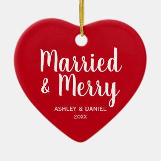 Verheiratetes und fröhliches keramik ornament
