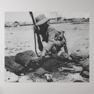 Verhungernder türkischer Soldat Poster