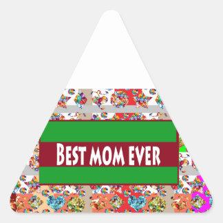 VERKAUF Geschenke für Mammen MothersDay Mutter-Tag Dreieckiger Aufkleber