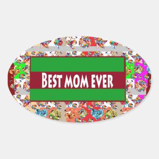 VERKAUF Geschenke für Mammen MothersDay Mutter-Tag Ovaler Aufkleber