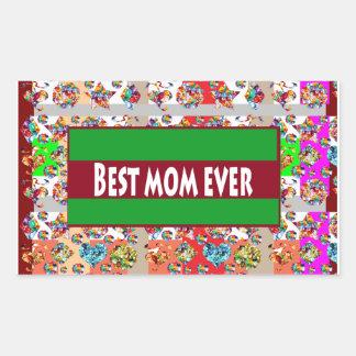 VERKAUF Geschenke für Mammen MothersDay Mutter-Tag Rechteckiger Aufkleber