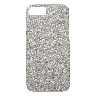 VERKAUF herrlicher silberner (Imitat) Glitter iPhone 8/7 Hülle