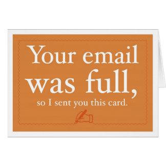 Verkäufe und Prospektierungs-Karte - Ihre E-Mail Mitteilungskarte