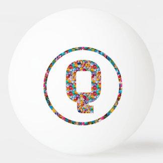 VERKAUFSPREIS-ALPHABET-KUNST QQQ 3* Klingeln Pong Tischtennis Ball