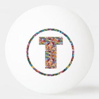 VERKAUFSPREIS-ALPHABET-KUNST TTT 3* Klingeln Pong Ping-Pong Ball