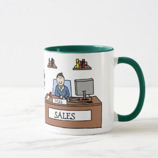 Verkaufsteamgeschenk - personalisierte tasse