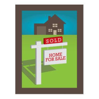 Verkauft! Wir kauften ein Haus! Postkarte