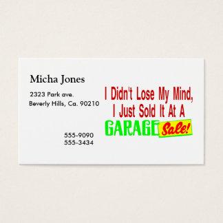 Verkaufte meinen Verstand am Ramschverkauf Visitenkarte