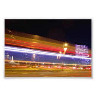 Verkehr in Philadelphia am NachtFoto Photographien