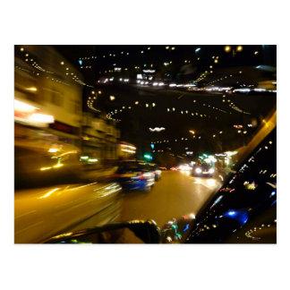 Verkehrsnachtlichter Postkarte