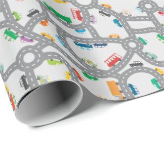 Verkehrsreiche Straßen Geschenkpapier