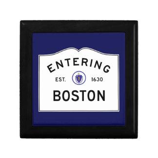 Verkehrsschild-Andenken-Kasten Bostons Geschenkbox