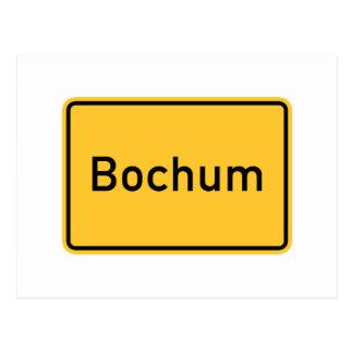 Verkehrsschild Bochums, Deutschland Postkarte