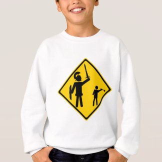 Verkehrsschild David und Goliath Sweatshirt