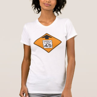 Verkehrsschild-der Frauen der T-Shirt