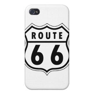 Verkehrsschild des Weg-66 iPhone 4/4S Cover