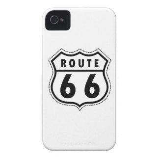 Verkehrsschild des Weg-66 iPhone 4 Etuis